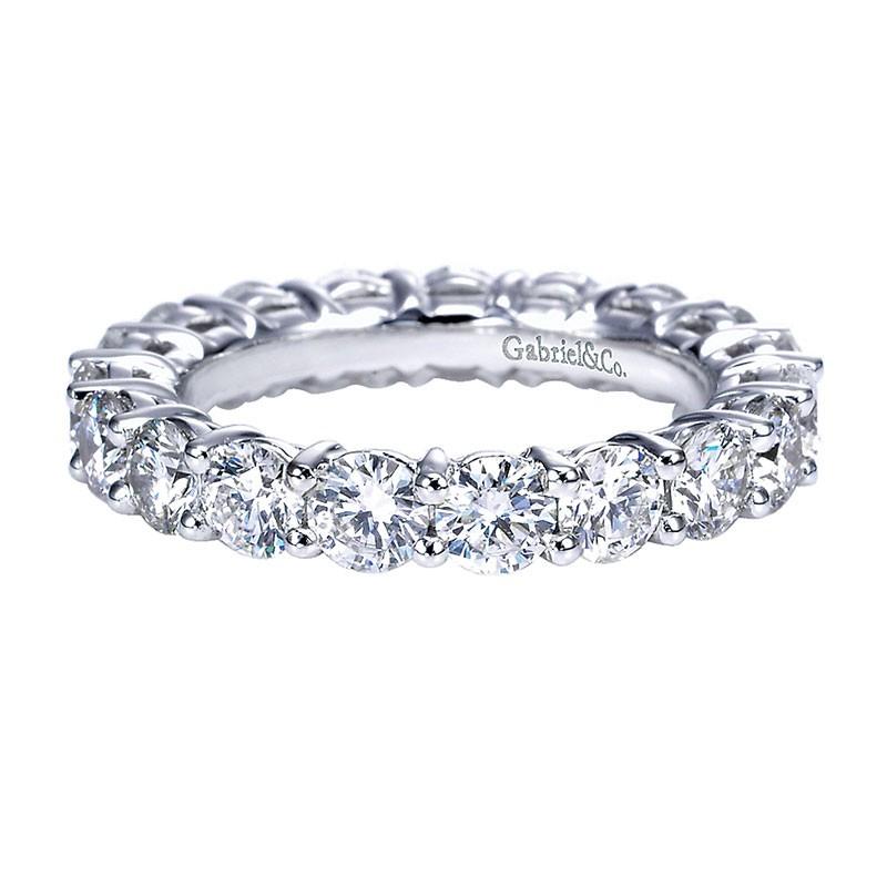 Diamond Wedding Bands.Anniversary Band 14k White Gold Diamond Eternity Band