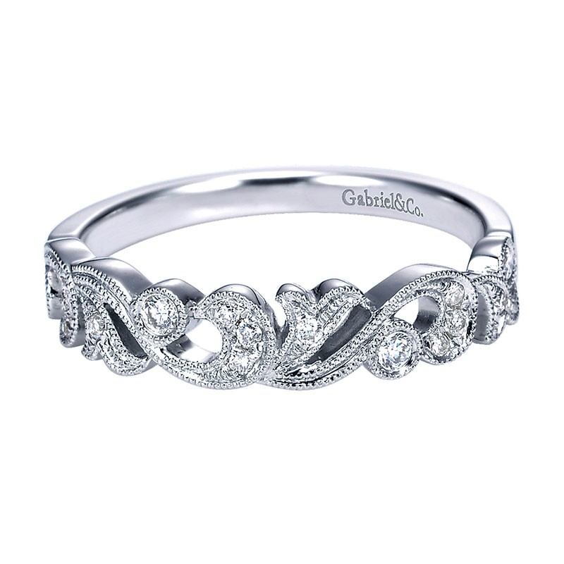Anniversary Band 14k White Gold Diamond Stackable All Wedding