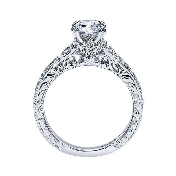 14k White Gold Diamond Straight Engagement Ring ER9194W44JJ