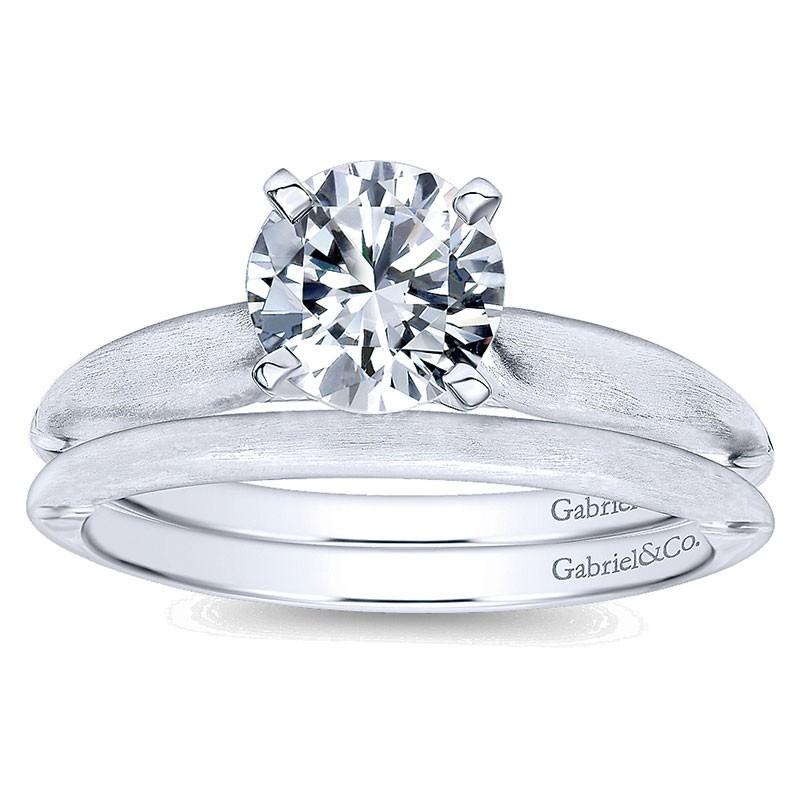 14k White Gold Solitaire 14k White Gold Engagement Ring