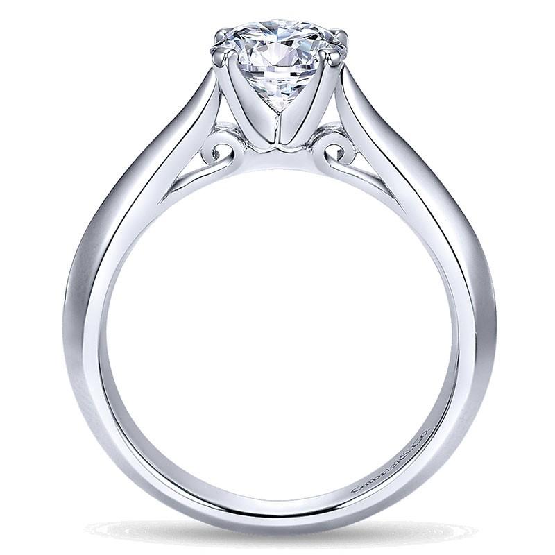 14k White Gold Solitaire Knife Edge 14k White Gold Engagement Ring Er8296w4jjj Solitaire Engagement Rings Engagement