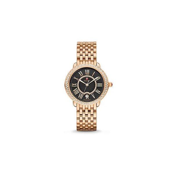 Serein 16 Diamond Rose Gold, Black Diamond Dial Watch
