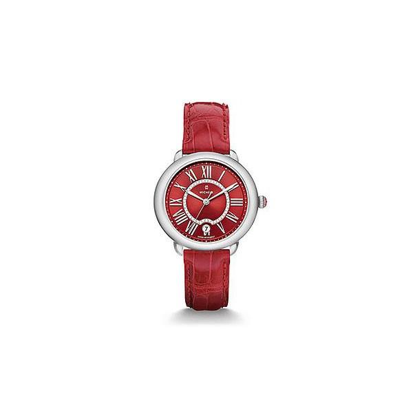 Serein 16, Red Diamond Dial Garnet Alligator Watch