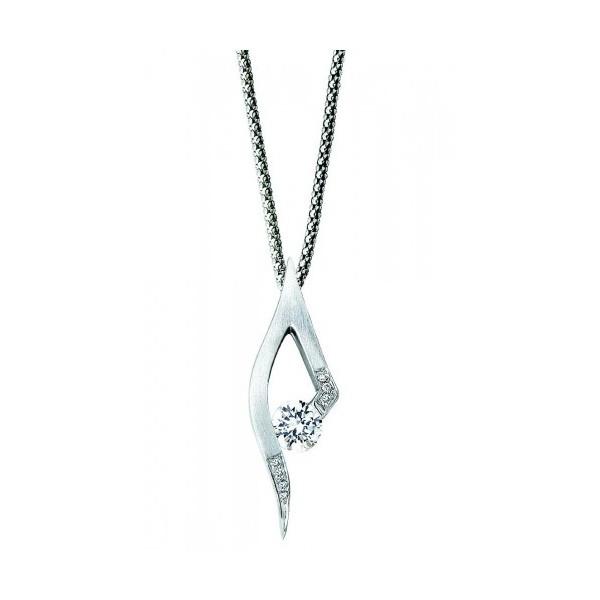 Gelin Abaci 14k White Gold Diamond Pendant TN-049