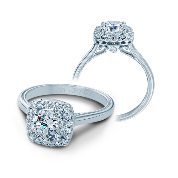 Verragio Halo Diamond Engagement Ring