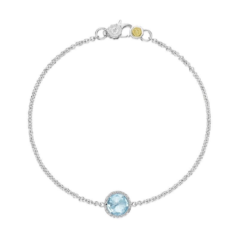 Petite Floating Bezel Bracelet featuring Sky Blue Topaz