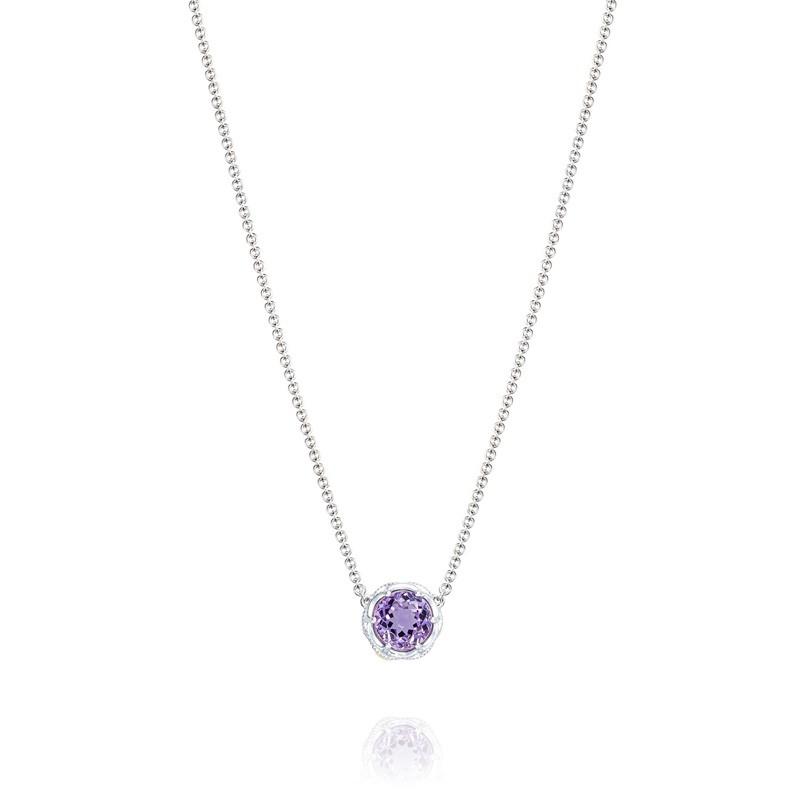 Tacori Lilac Blossoms Mixed Metal Crescent Necklace