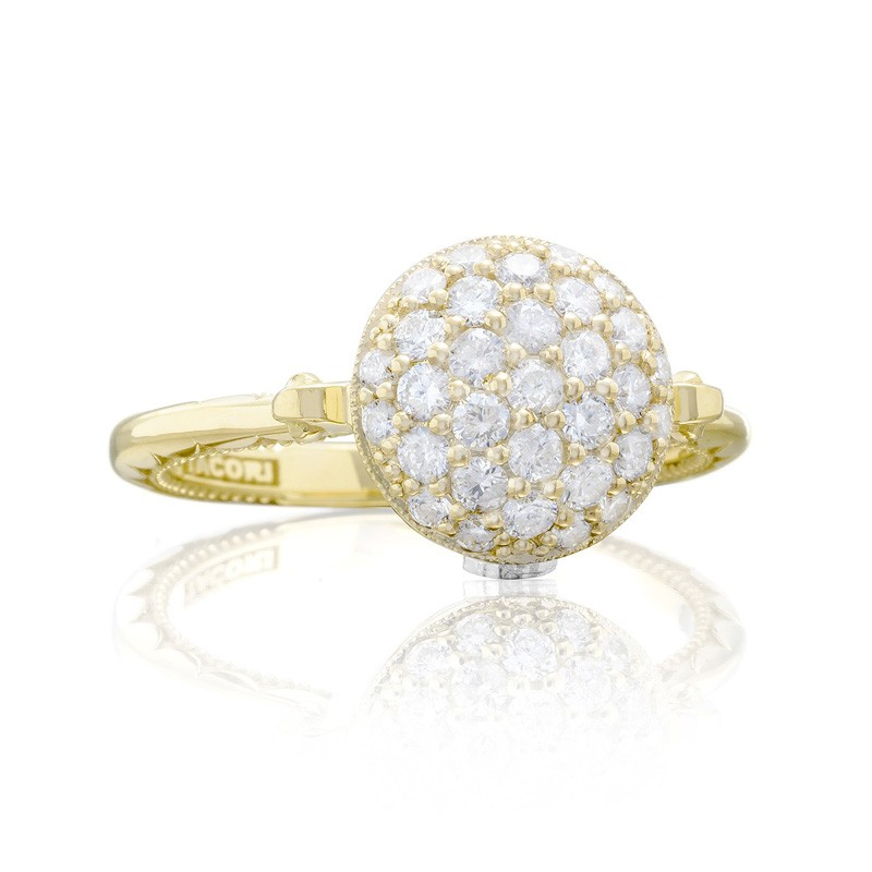 Tacori Sonoma Mist Bold Gold Pave Dew Drop Ring