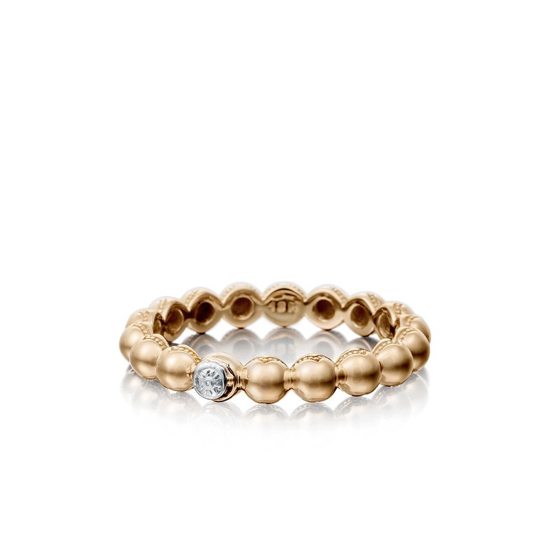 Petite Dew Droplets Ring in Rose Gold