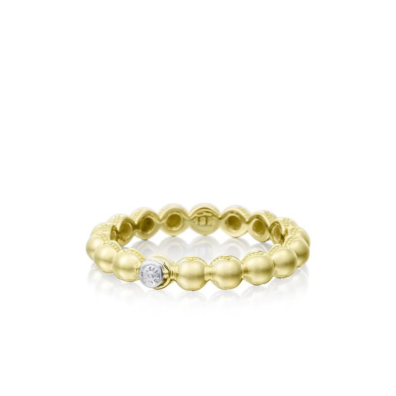 Tacori Sonoma Mist Gold Beaded Dew Drop Ring