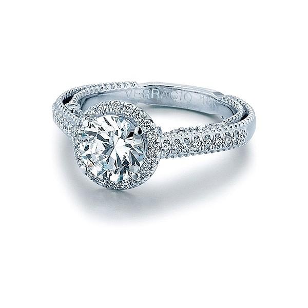 Verragio Pave Halo Diamond Engagement Ring