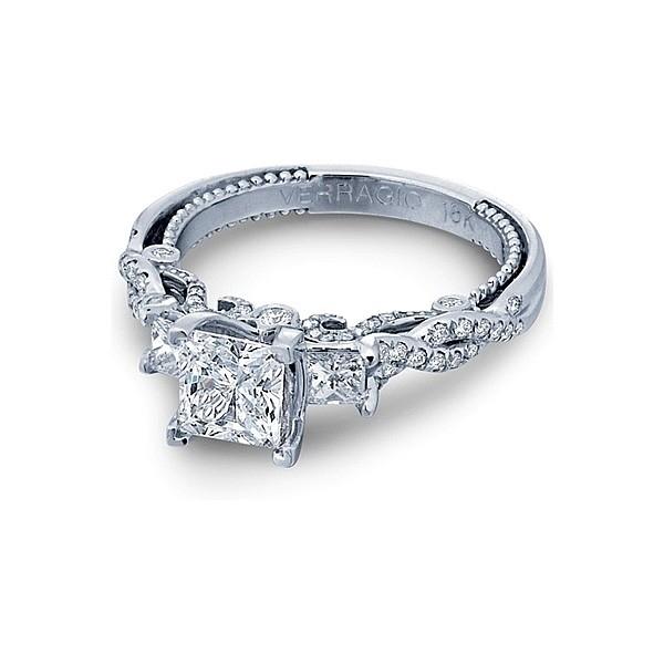 Verragio Three Stone Twist Diamond Engagement Ring