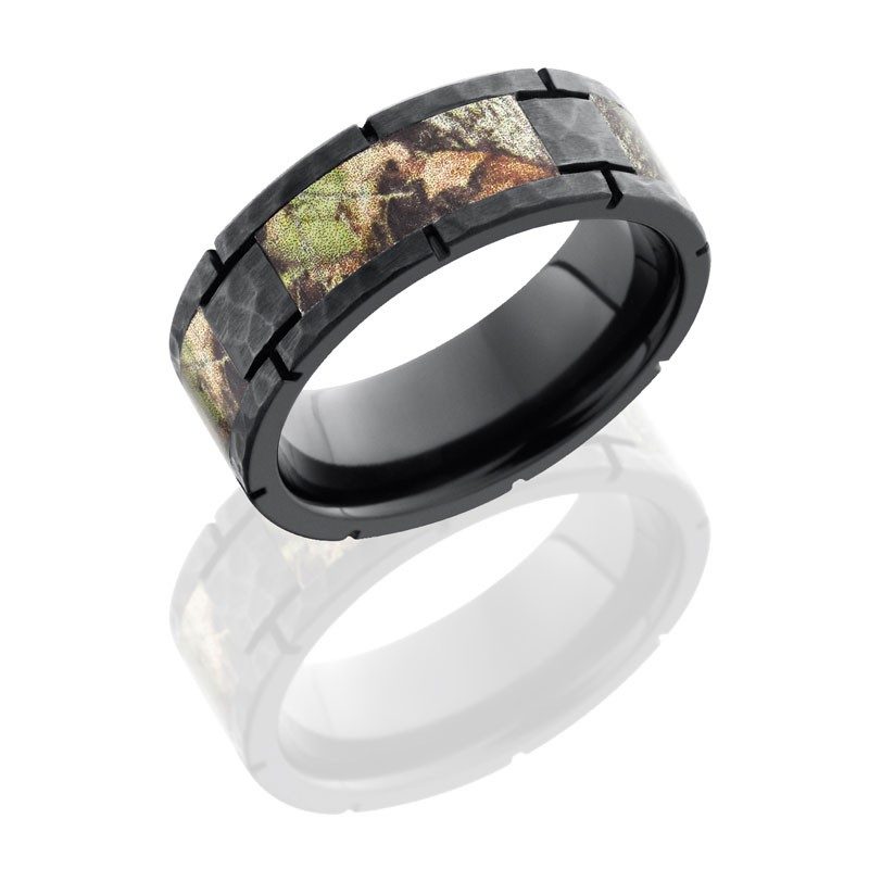 Lashbrook Zirconium 8mm Flat Segmented Band With Mossyoak Camo ZCAMO8F4SEG/MOSSYOAK