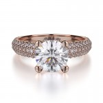 MICHAEL M 18k Rose Gold Engagement Ring R710-1-5-18R