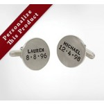 Unframed Round Toggle Back Cufflinks