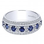 Ladies' Ring 14k White Gold Victorian Wide Band