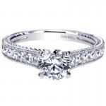 14K White Gold Diamond Straight 14K White Gold Engagement Ring ER8823W44Jj