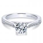 14K White Gold Petite Diamond Channel 14K White Gold Engagement Ring ER12318R3W44Jj