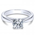 Engagement Ring 14k White Gold Solitaire