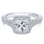 14K White/Pink Gold Diamond Halo Two-Tone Engagement Ring ER12835C4T44Jj