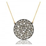 Caviar Necklace In Reclaimed Sterling Silver + 22K Gold Vermeil