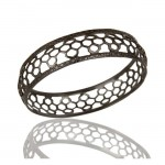 Mercer Bangle Bracelet In Oxidized Reclaimed Sterling Silver