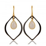 Lily Earrings In Reclaimed Sterling Silver + 22K Gold Vermeil