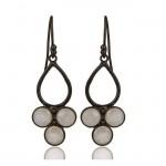 Venice Drop Earrings In Oxidized Reclaimed Sterling Silver