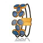 Riviera Cuff Bracelet In Reclaimed Sterling Silver + 22K Gold Vermeil