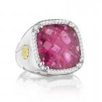 Tacori City Lights Cushion Cut Pave Gem Ring