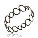 The Roxy Bangle In Oxidized Reclaimed Sterling Silver