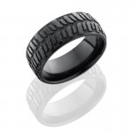 Lashbrook Zirconium 9mm Domed Band With Bogger Pattern Z9DBOGGER