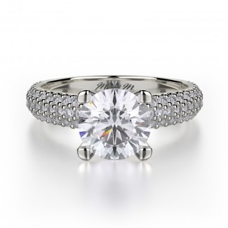 MICHAEL M Platinum Engagement Ring R710-1-5-PT
