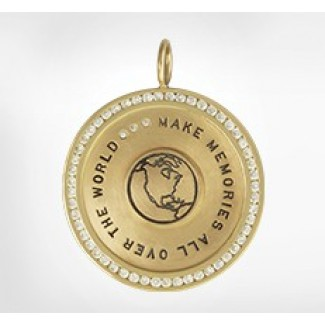 Channel Set Round Charm