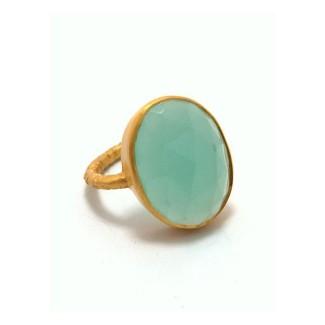 Bliss Signature Gemstone Bezel Statement Ring