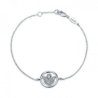 14k White Gold Diamond Chain Bracelet