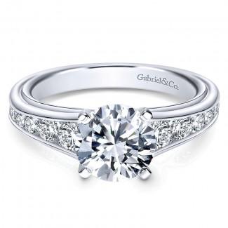 14K White Gold Diamond Straight 14K White Gold Engagement Ring ER8866W44Jj