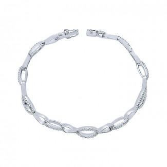 14k White Gold Diamond Tennis Bracelet
