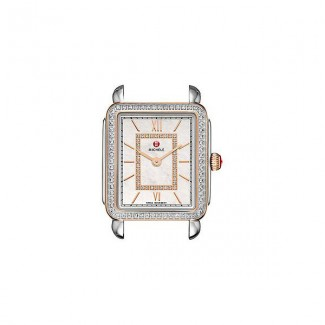Deco II Mid Diamond Two-Tone Rose Gold, Diamond Dial