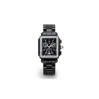 Deco Diamond Black Ceramic Watch