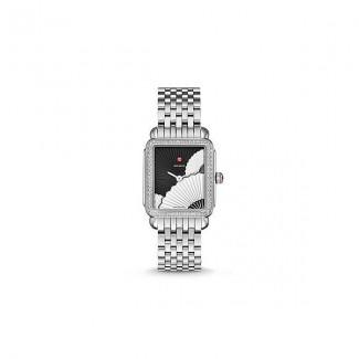 Deco II Mid Diamond, Fan Dial Watch