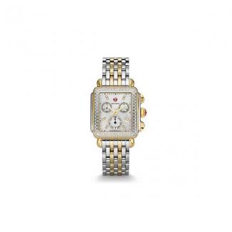 Signature Deco Two-Tone Diamond, Diamond Dial Watch