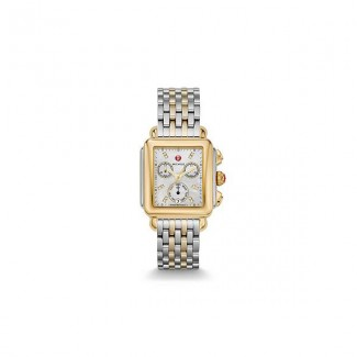Signature Deco Non-Diamond Two-Tone, Diamond Dial Two Tone Watch