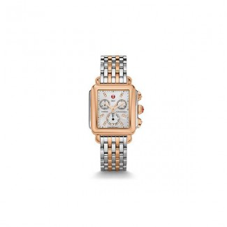Signature Deco Two-Tone Rose Gold, Diamond Dial Watch