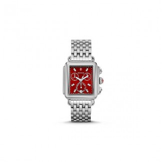 Deco, Red Diamond Dial Watch