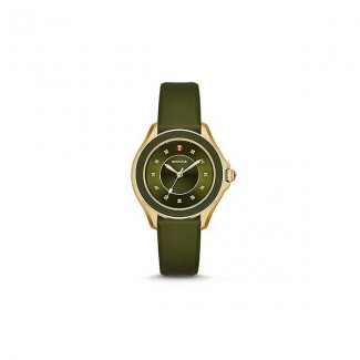 Cape Topaz Green, Gold Tone Watch