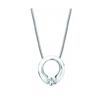 Gelin Abaci 14k White Gold Diamond Pendant TN-002
