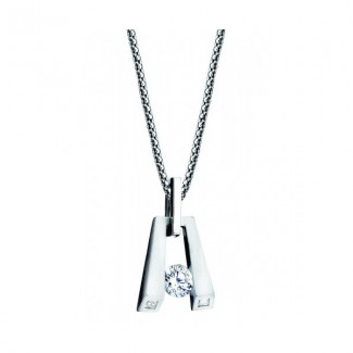 Gelin Abaci 14k White Gold Diamond Pendant TN-034