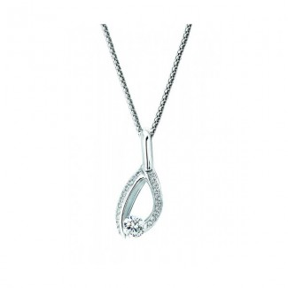 Gelin Abaci 14k White Gold Diamond Pendant TN-042