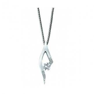 Gelin Abaci 14k White Gold Diamond Pendant TN-049